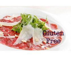 Carpaccio di Manzo affumicato con carciofini sott\'olio e petali di grana-Gluten Free