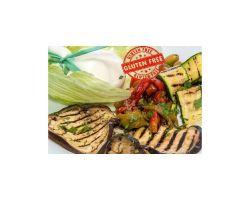 Burrata su verdure grigliate e glassa di aceto balsamico - Gluten free